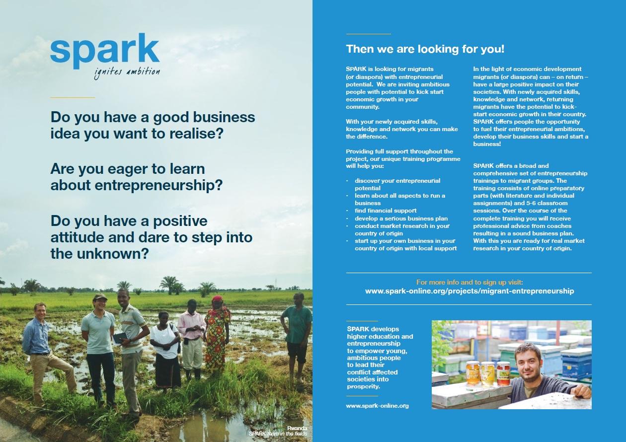 Project Migrant Entrepreneurship MEP  SPARK
